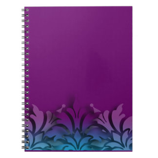 Any Color Background  3D Look Damask Border Notebook