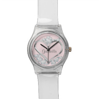 Any Color Background Hearts Wrist Watch