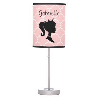 Any Color Background - Personalized Princess Table Lamp