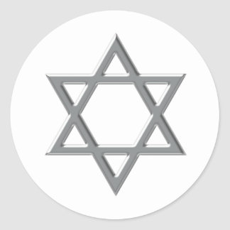 Any Color Background Silver Star of David Stickers