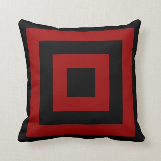 Any Color Background with Black Blocks Throw Pillow