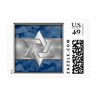 Any Color Background with Silver Star of David Stamps