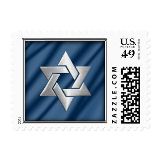 Any Color Background with Silver Star of David Stamp