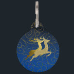 """Any Color Black Ombre Two Gold Reindeer Holiday Pet Name Tag<br><div class=""""desc"""">Holiday Decor and Gifts by Tailored Type. I am more than happy to help you with your Zazzle experience. For example, do you like the design but need a different color? Need help with the Zazzle editor? No problem! Email me: carrie at tailoredtype dot com You can also use the...</div>"""