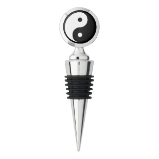 Any Color/Black Yin Yang Taoism Symbol Wine Stopper