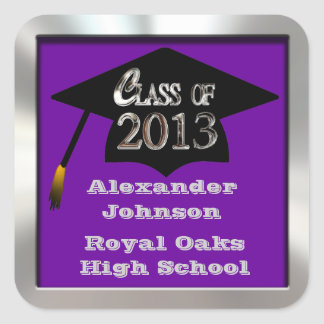 Any Color Class Of 2013 Graduation Sticker Seals