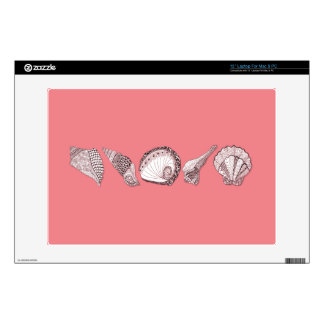"""Any Color Customizable Seashells 13"""" Laptop Decal"""
