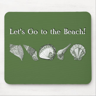 Any Color Customizable Seashells Mouse Pad