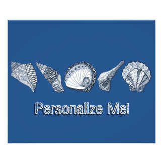 Any Color Customizable Seashells Photo Print