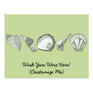 Any Color Customizable Seashells Postcard