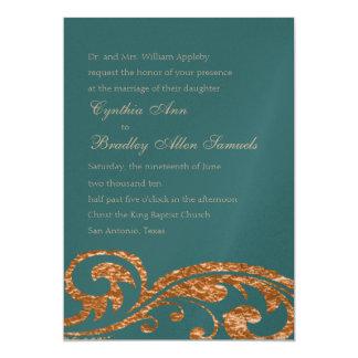 Any Color Faux Copper Foil Design Card