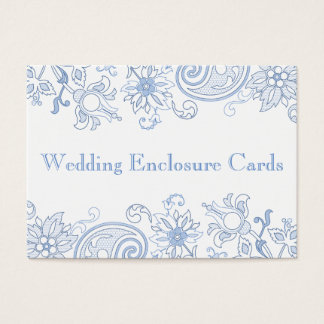 Any Color Flowers - Foliage Wedding Enclosure Card