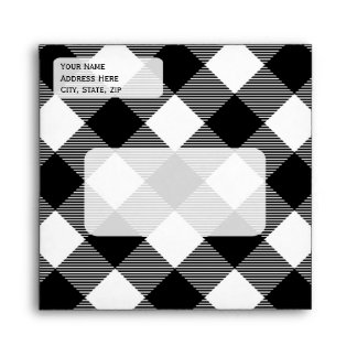 Any Color - Gingham Tablecloth Pattern Envelope