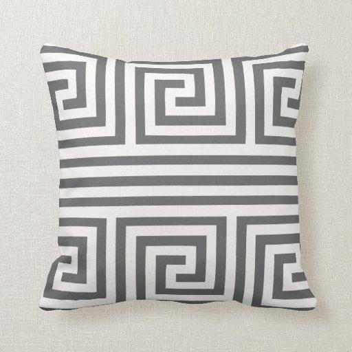 Any Color Greek Key Pattern Design Pillow