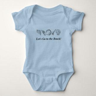 Any Color Hand Drawn Seashells Baby Bodysuit