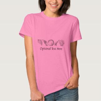 Any Color Hand Drawn Seashells Tee Shirts