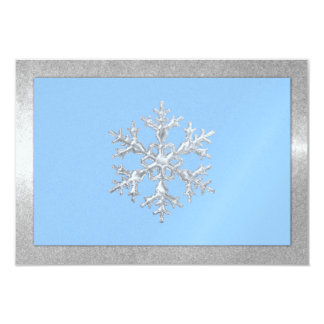 Any Color Icy Snowflakes Holiday Party Card