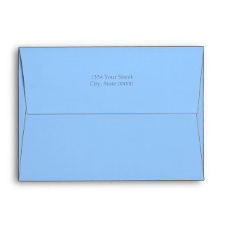 Any Color Icy Snowflakes Holiday Party Envelope