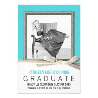 Any Color Large Photo Graduation Invite
