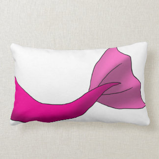 Any Color Mermaid Tail w/ White Background Lumbar Pillow