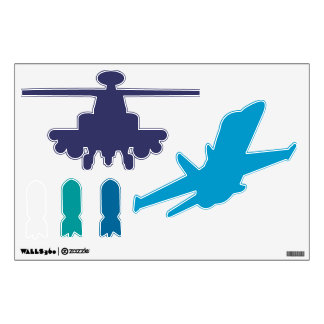 Any color Military Airplane Tank Bombs Helicopter Room Stickers