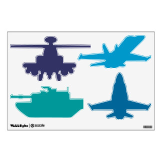 Any color Military Airplane Tank Helicopter Wall Skins