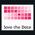 """Any Color Modern Typography Save the Date Flyer<br><div class=""""desc"""">A fun, postcard format Wedding Save the Date Announcement flyer for the budget savvy Bride and Groom. To the front of the flyer is a transparent white image which allows any background color to show through in an ombre effect. The bold geometric squares design becomes subtly shaded in variations of...</div>"""