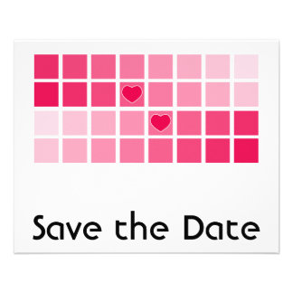Any Color Modern Typography Save the Date Flyer