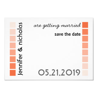 Any Color Modern Typography Wedding Save the Date Card