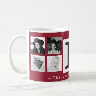 Any Color Monogram and 8 Photos Coffee Mug