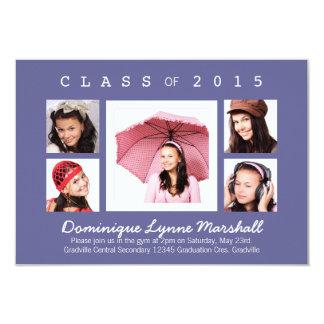 Any Color Multi Photo Graduation Card