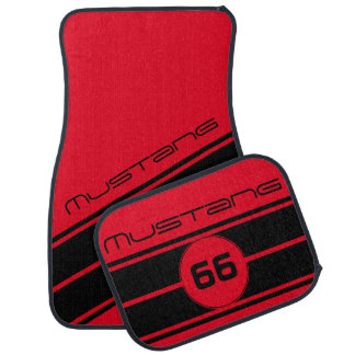 Any Color Name Number or Initial Race Stripe Car Floor Mat