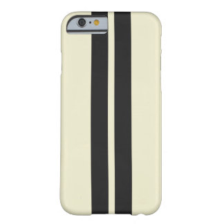 Any Color Pepper White Black Racing Stripes Barely There iPhone 6 Case