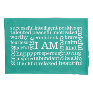 Any Color Positive Self Image Daily Affirmations Pillow Case