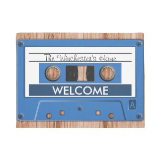 Any Color Retro Music Cassette Tape Welcome Doormat