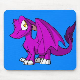 Any Color SD Furry Dragon w/ Blue Background Mouse Pad