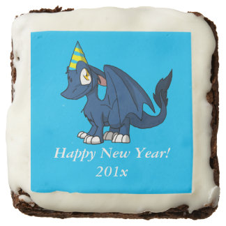 Any Color SD Furry Dragon w/ Party Hat 1 Chocolate Brownie