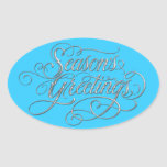 Any Color Season's Greetings Silver Sticker