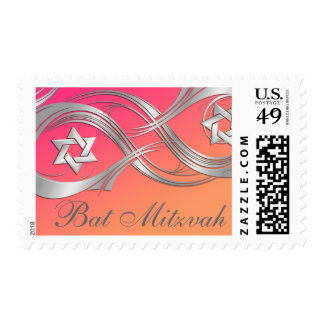 Any Color Silver Star Swag Bat Mitzvah Postage