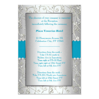 Any Color Silver Swirl Wedding Personalized Announcements