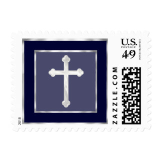 Any Color Simple Pearly Cross Postage