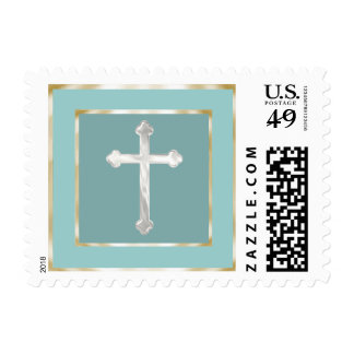 Any Color Simple Pearly Cross Stamp