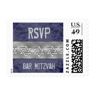 Any Color Star of David Bar Mitzvah Rock Star Postage