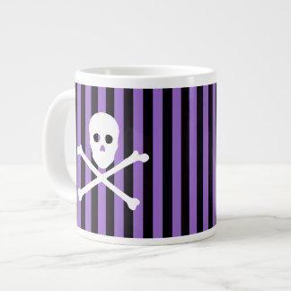 ANY COLOR! Stripe Skull and Crossbones Mug
