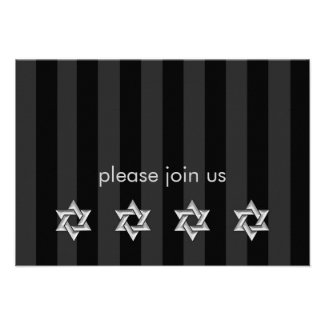 Any Color Stripe with Silver Stars Response Card