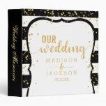 Any Color Stripes & Gold Wedding Photo Album Binder