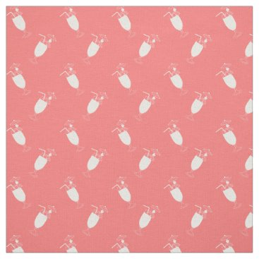 Beach Themed Any Color | Tropical Cocktail Hurricane Glass Fabric