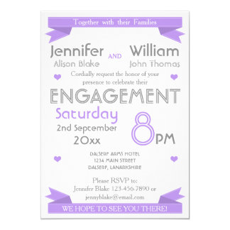 Any Color Typography Engagement Party Card