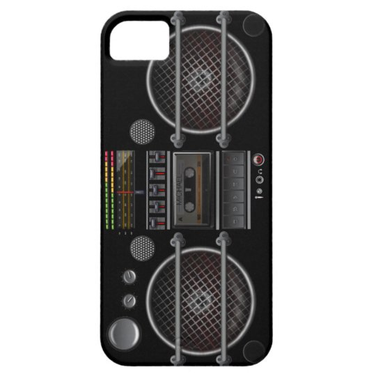 Any Color Vintage Ghetto Blaster iPhone SE/5/5s Case