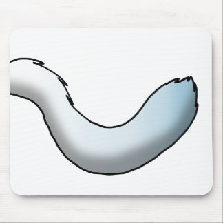 Any Color/White Gradient Fluffy Tail Mouse Pad
